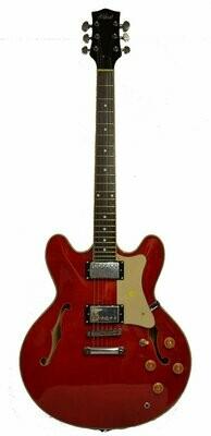 Alden AD-133 Semi Acoustic Guitar Dark Cherry