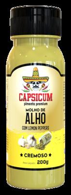 Molho de alho c/ lemon peppers cremoso Capsicum 220g