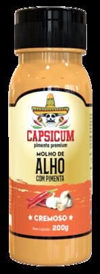 Molho de alho c/ pimenta cremoso Capsicum 220g