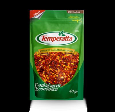 Pimenta calabresa em flocos Temperatta 40g standpouch