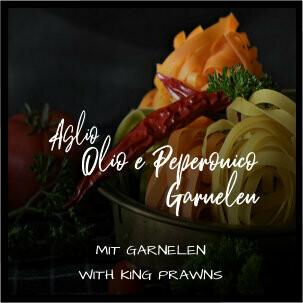 Linguine Alio e Olio Peperocino Garnelen