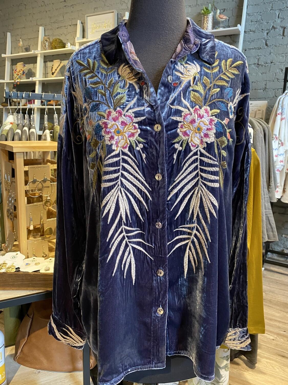 Johnny Kasumi Velvet Shirt S