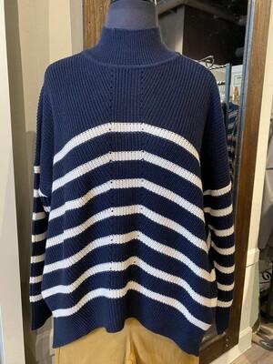 Foil Sweater Navy/Dune L