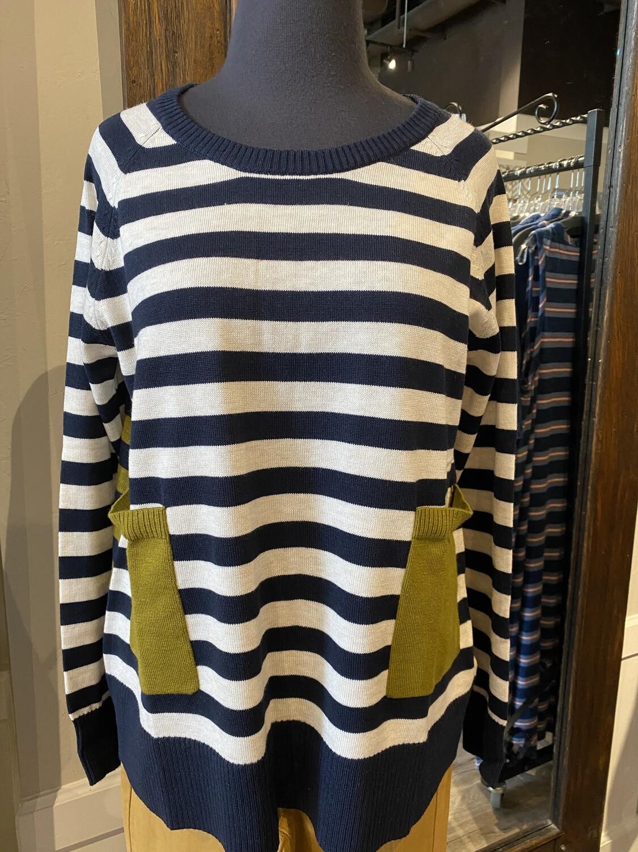 Foil Sweater Navy Mix S