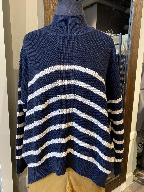 Foil Sweater Navy/Dune S