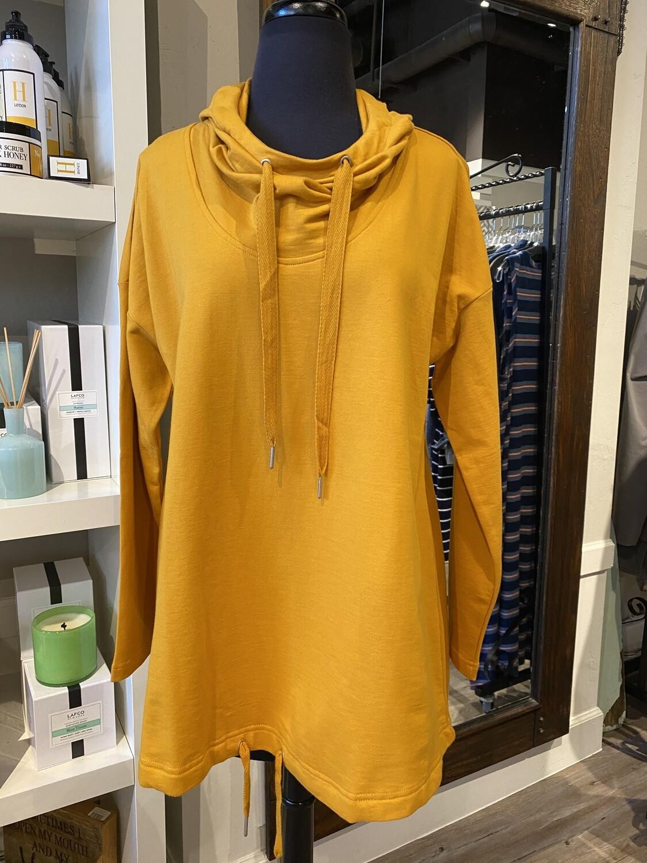 Foil Sweatshirt Mustard L