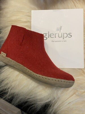 Glerups Boot Red Leather