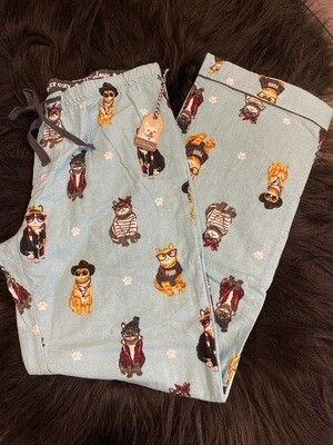 PJ Salvage Flannel Cats