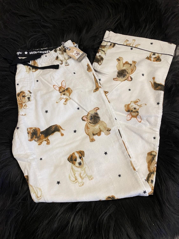 PJ Salvage Flannel Puppies