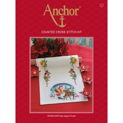 Anchor Essentials Cross Stitch Kit - Deer Suppers Runner