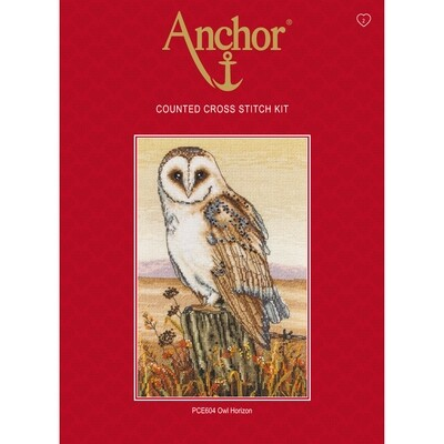 Anchor Essentials Cross Stitch Kit - Owl Horizon