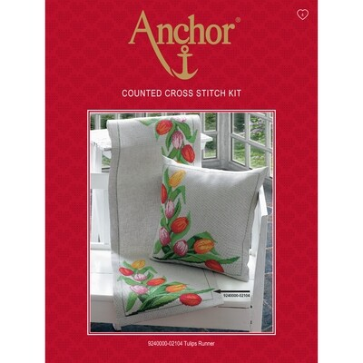 Anchor Essentials Cross Stitch Kit - Tulips Runner