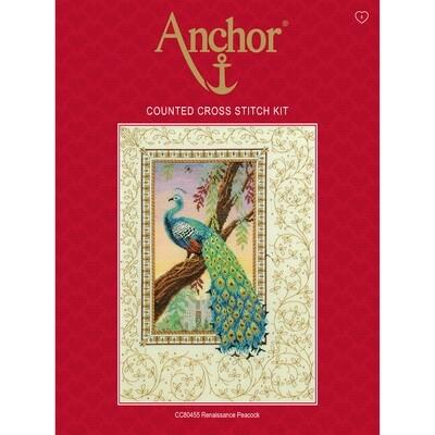 Anchor Essentials Cross Stitch Kit - Renaissance Peacock
