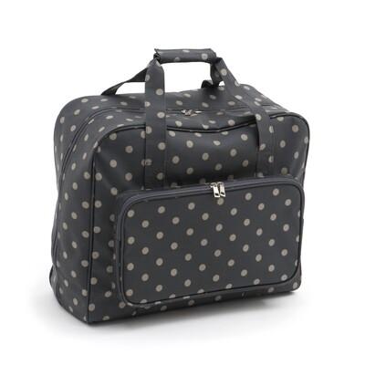 Sewing Machine Bag - Charcoal Polka Dot