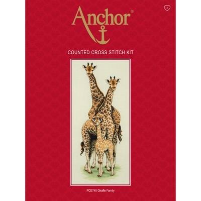 Anchor Essentials Cross Stitch Kit - Giraffe Family