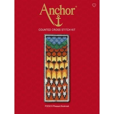 Anchor Essentials Cross Stitch Kit - Pheasant Bookmark
