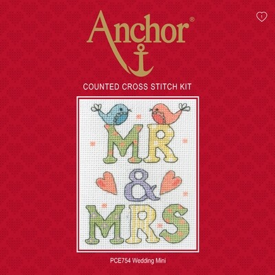 Anchor Essentials Cross Stitch Kit - Wedding Mini Sampler