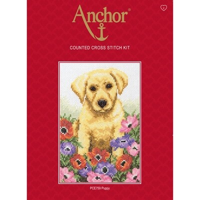 Anchor Essentials Cross Stitch Kit - Puppy