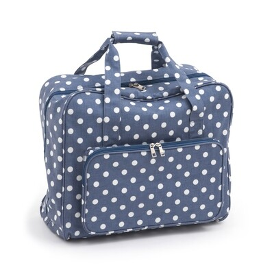 Sewing Machine Bag - Denim Polka Dot