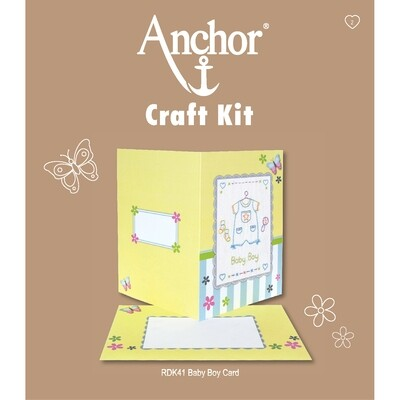 Anchor Craft Kit - Baby Boy Card