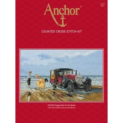 Anchor Essentials Cross Stitch Kit - Vintage Rolls on the Beach