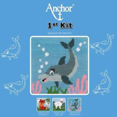 Anchor 1st Kit - Dolphin Waves Tapestry