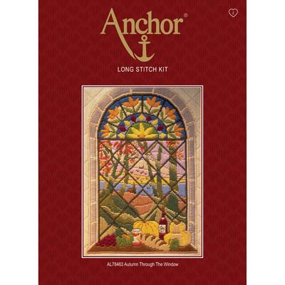 Anchor Starter Long Stitch Kit - Autumn through the Window
