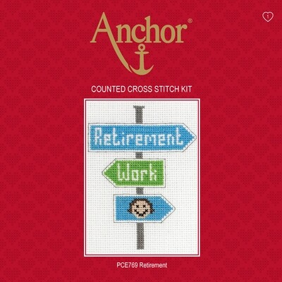 Anchor Essentials Cross Stitch Kit - Retirement