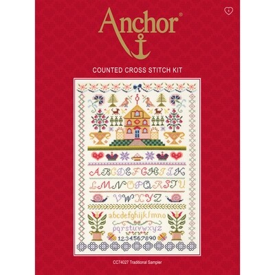 Anchor Essentials Cross Stitch Kit - Traditional Sampler