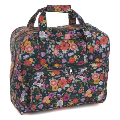 Sewing Machine Bag - Floral Garden Teal