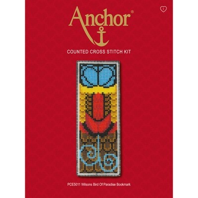 Anchor Essentials Cross Stitch Kit - Bird of Paradise Bookmark
