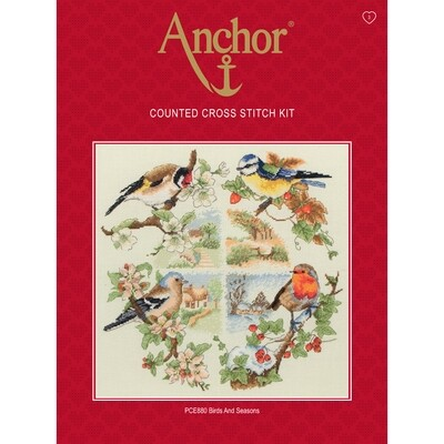 Anchor Essentials Cross Stitch Kit - Birds and Seasons