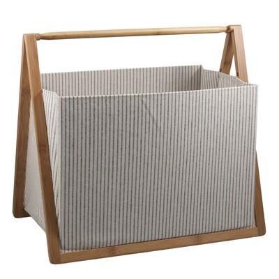 Folding Fabric Craft Basket - White