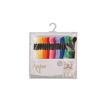 Anchor Essential Assortment - Anchor Stranded Cotton 18 Skeins