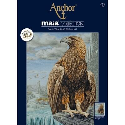 Maia Cross Stitch Kit - 3D Eagle