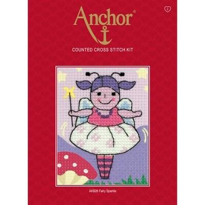 Anchor Starter Cross Stitch Kit - Fairy Sparkle