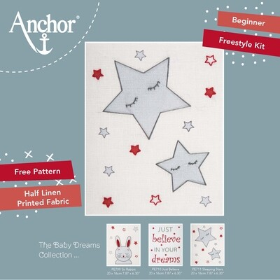 Anchor Starter Freestyle Kit - Sleeping Stars 20x12cm