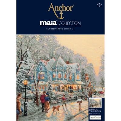 Maia Cross Stitch Kit - A Holiday Gathering