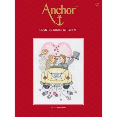Anchor Essentials Cross Stitch Kit - Just Married