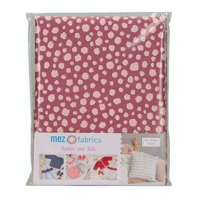 Pre-Cut Cotton - My Baby Love Selection - Spots - Berry (100 x 140 cm)