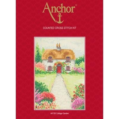 Anchor Starter Cross Stitch Kit - Cottage Garden