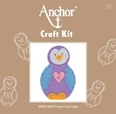 Anchor 1st Kit - Penguin Finger Puppet