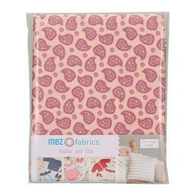 Pre-Cut Cotton - My Baby Love Selection - Paisley - Berry (100 x 140 cm)