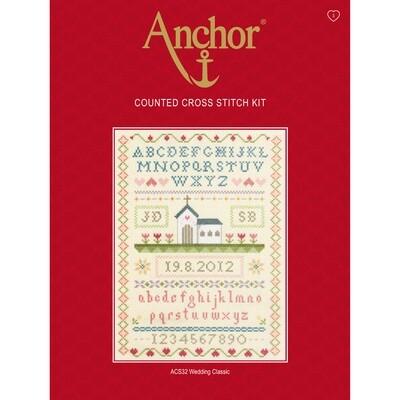 Anchor Essentials Cross Stitch Kit - Wedding Classic Sampler