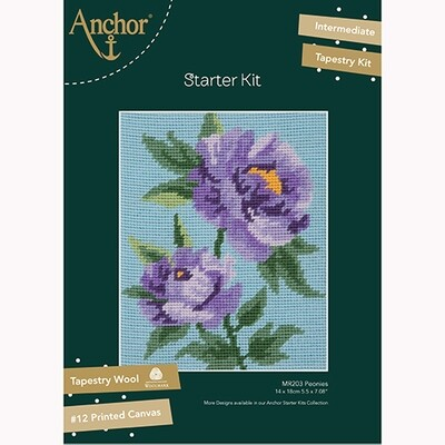 Kit de Tapeçaria Anchor Starter - Peónias Purpura