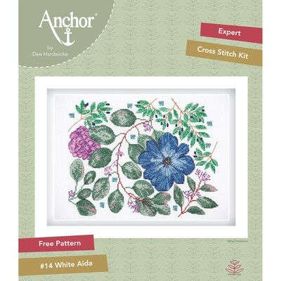 Anchor by Dee Hardwicke - Clematis Cross Stitch Kit