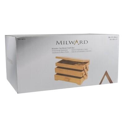 Wooden Cantilever Craft Storage Box
