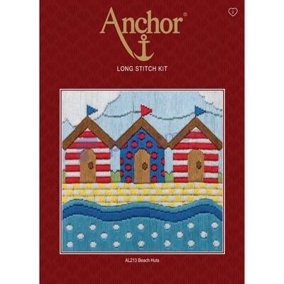 Anchor Starter Long Stitch Kit - Beach Huts