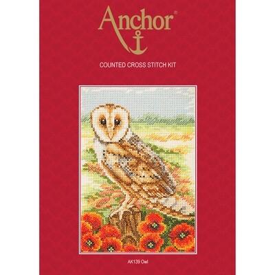 Anchor Essentials Cross Stitch Kit - Owl