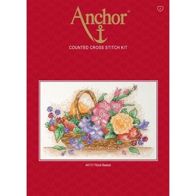 Anchor Starter Cross Stitch Kit - Floral Basket